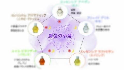 肌と心を元気にする魔法の小瓶でフェイシャルマッサージ☆5種類のアロマエッセンス